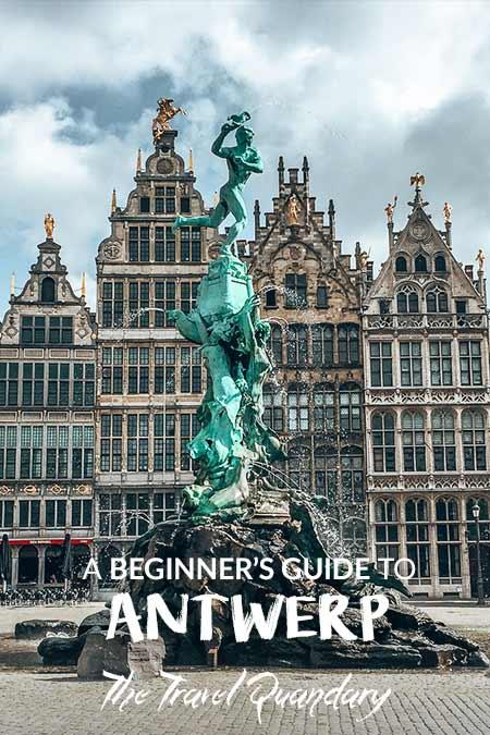 The Brabomonument in Grote Markt, Antwerp, Belgium