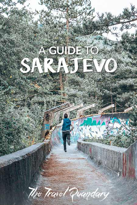 Pin Photo: Running down the old Olympic Bobsleigh Track during a one day itinerary Sarajevo
