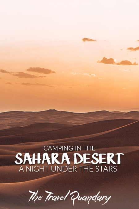 Sunset over the dunes of the Sahara Desert, Morocco