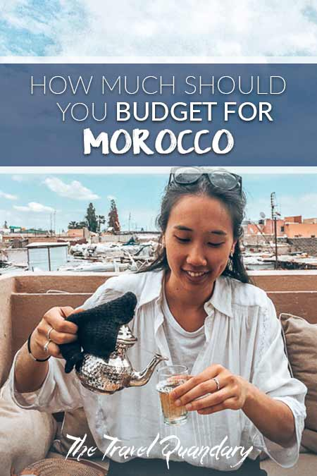 Pin to Pinterest: Jasmine pours mint tea at NOMAD Cafe, Marrakech - Prices in Morocco