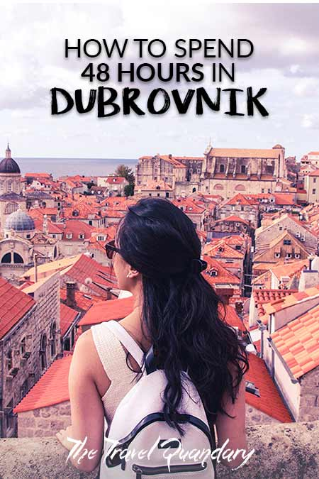Pin Photo: Looking out over the red roofs of the Old Town, Places to visit in Dubrovnik Croatia