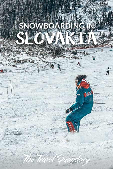 A snowboarder makes their way down the slopes at Jasna Resort in Slovakia