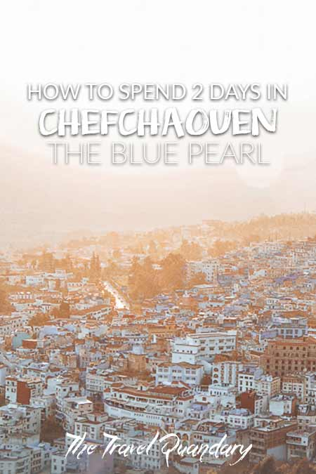 Pin to Pinterest: Chefchaouen itinerary