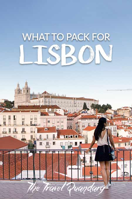Pin Photo: What To Wear in Lisbon, Portugal