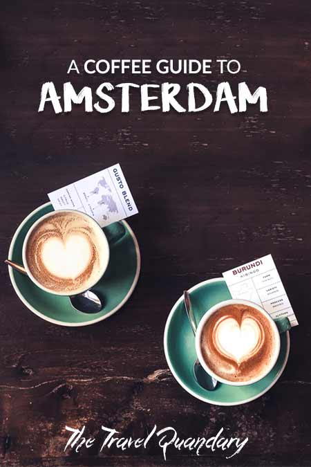 Two regular white coffees at Bocca Coffee, Amsterdam, The Netherlands