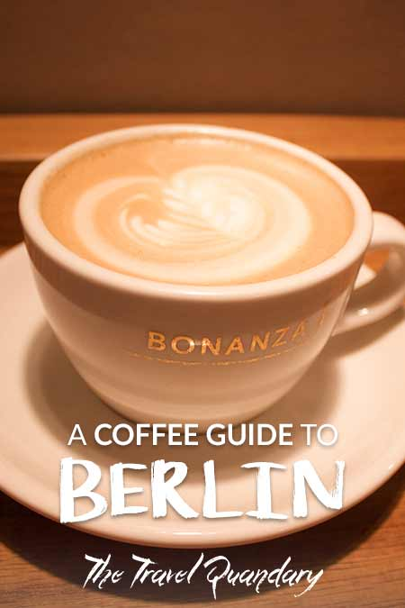 Pin Photo | A flat white at Bonanza Coffee Roasters, Berlin Specialty Coffee Guide, Germany