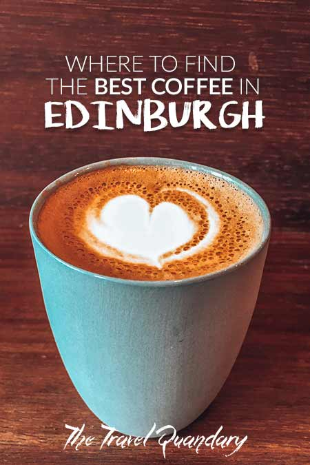 A latte in a mug at Fortitude Coffee, one of the best 5 specialty coffee shops in Edinburgh