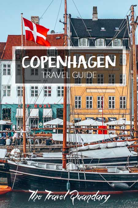 Pin to Pinterest: A boat on the colourful Nyhavn canal - 2 days in Copenhagen Itinerary