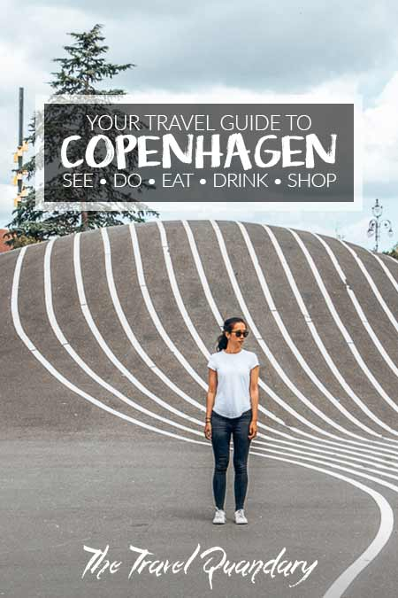 Pin Photo: Jasmine of The Travel Quandary standing in Superkillen Park, 2 Days In Copenhagen Itinerary