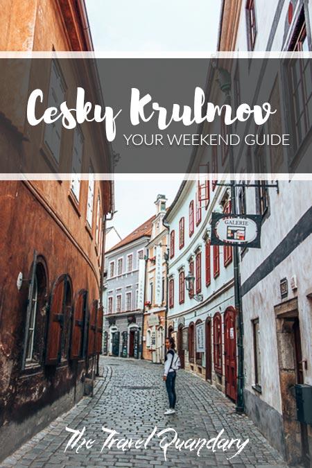Pin to Pinterest: Wandering fairytown alleys in Cesky Krumlov