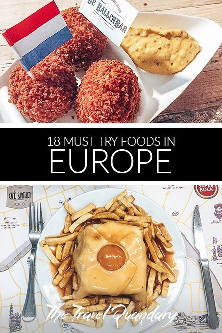 Pin to Pinterest: Bitterballen from the Netherlands and francesinha from Portugal | Eating in Europe
