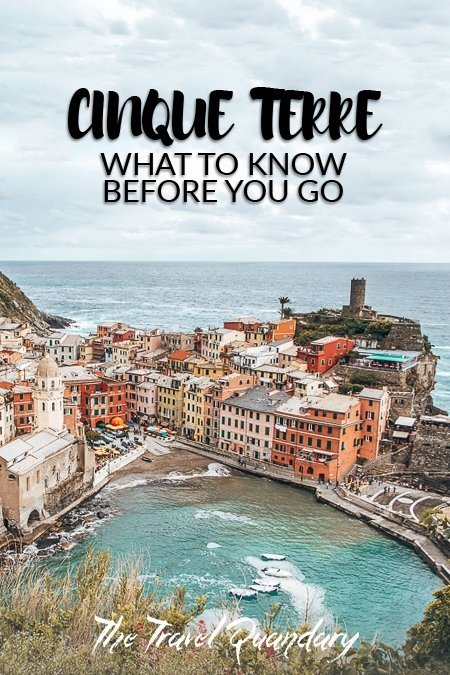Pin to Pinterest: View over Vernazza, How To Spend 3 Days In Cinque Terre