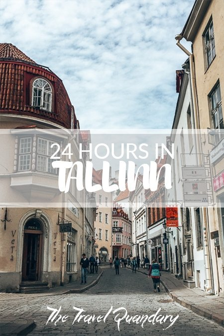 Pin Photo: The cobblestoned streets of the Old Town in Tallinn, Estonia