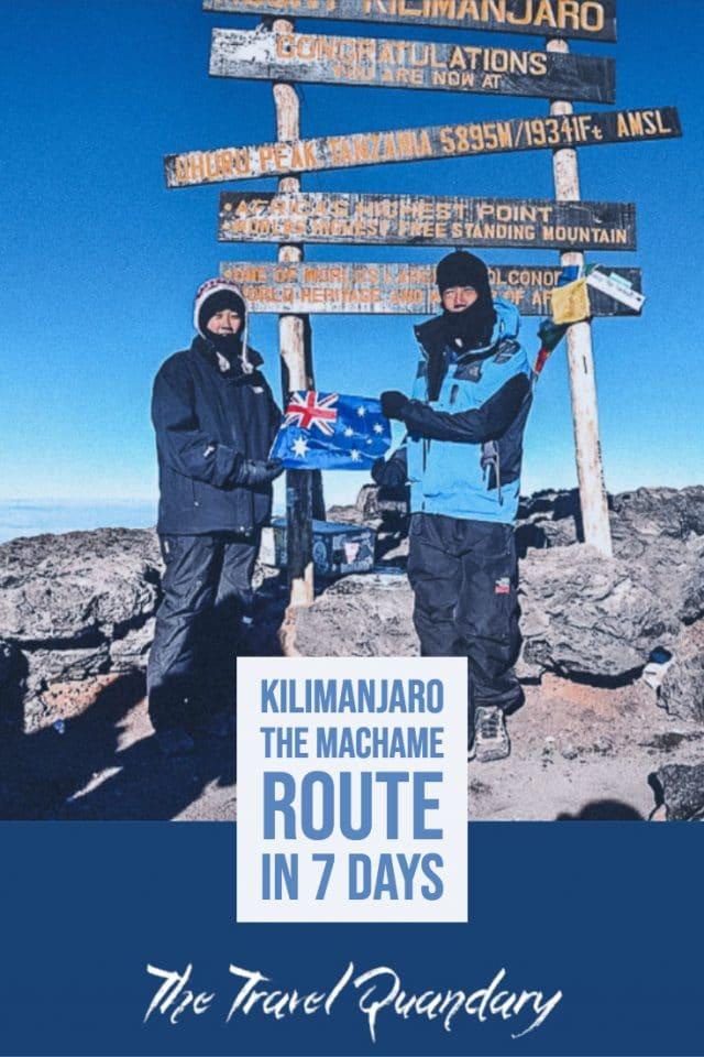 Pin Photo: At the top of Mt Kilimanjaro, Uhuru Peak