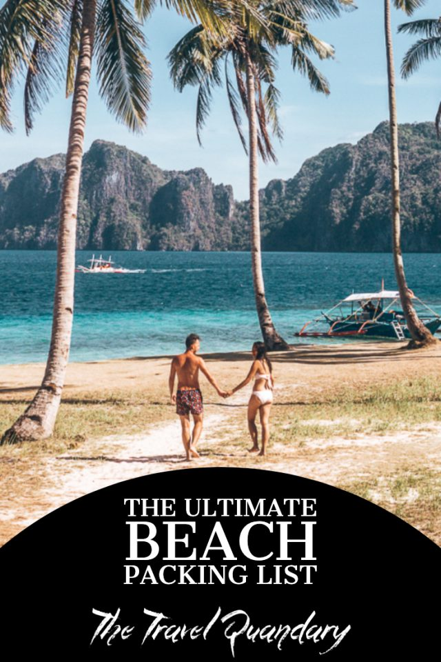 A couple walk hand in hand on Pinagbuyatan Island, The Philippines | Beach Packing List