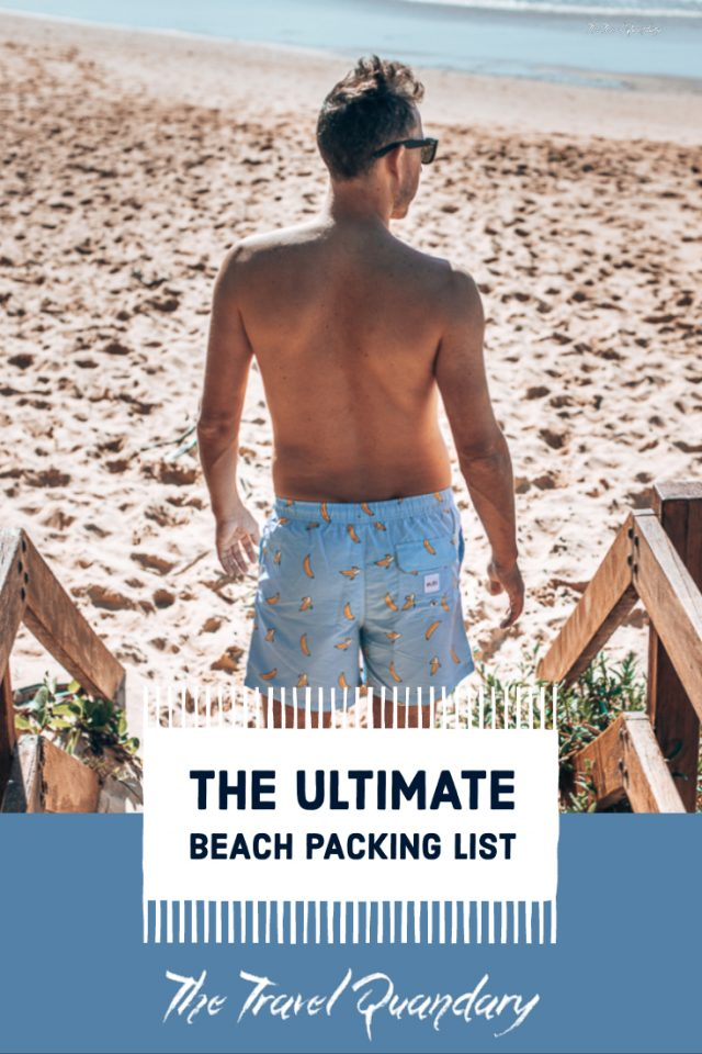 Bevan poses in Eubi board shorts | Beach Packing List