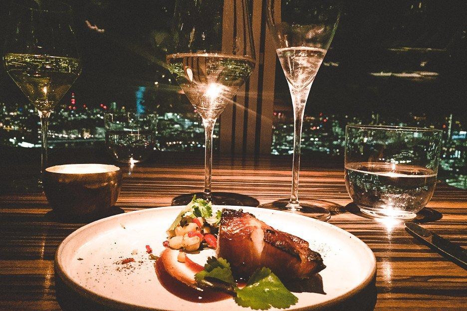 Tasting menu at Oblix, London - 12 Great Date Ideas