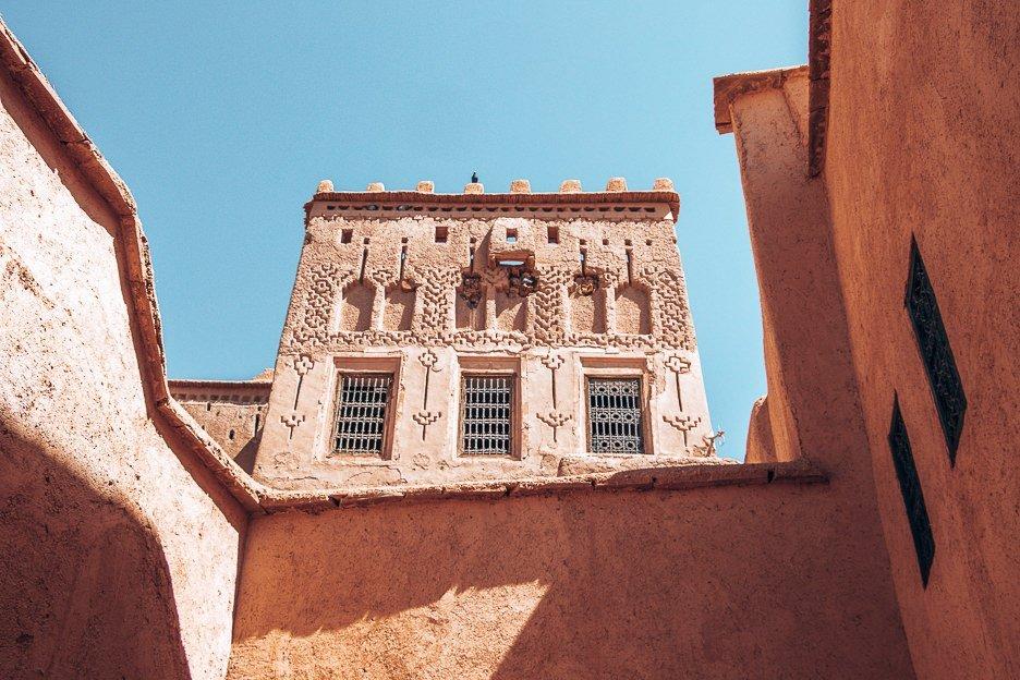 Facade within a Moroccan medina