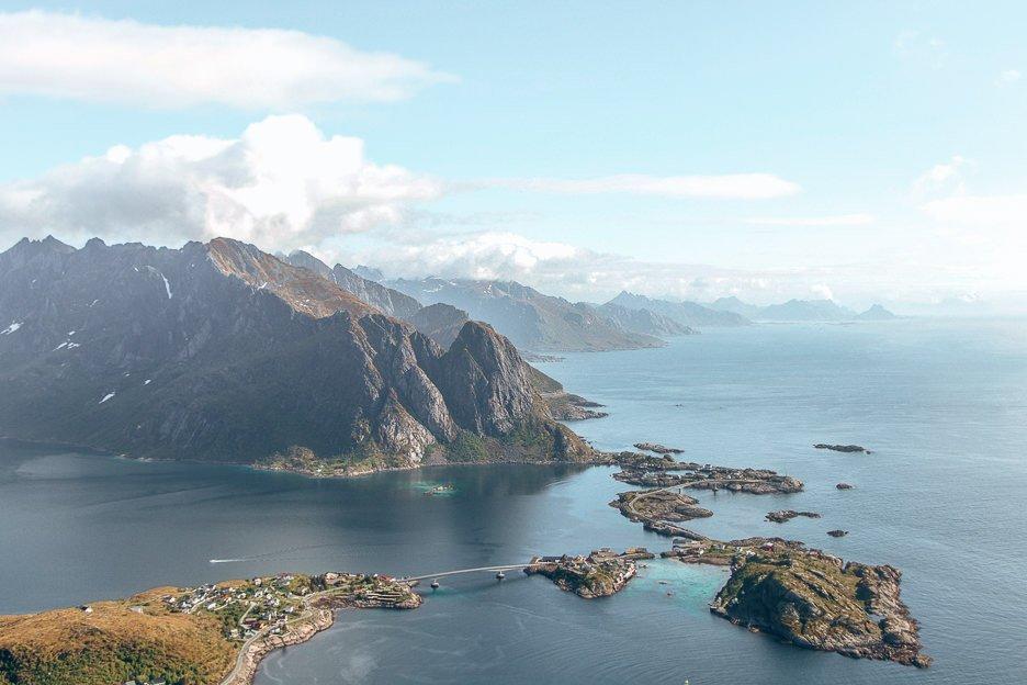 Looking out over Reine - Lofoten Islands, Norway