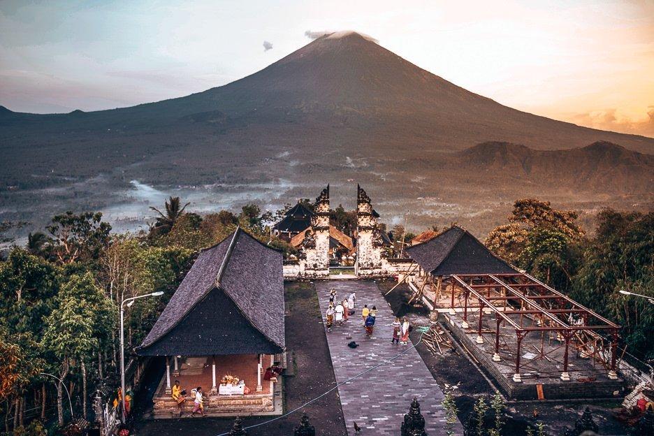 Sunrise over Mount Ajung at Temple of Lempuyang Lehur, Bali Gallery