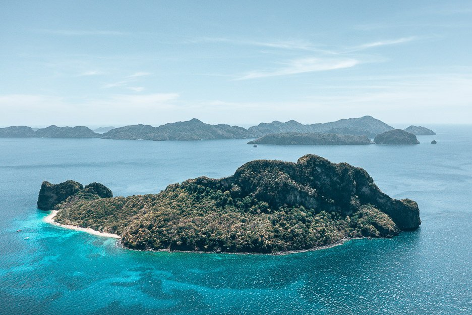 Aerial view of Helicopter Island, El Nido - taken with the DJI Mavic Pro 2