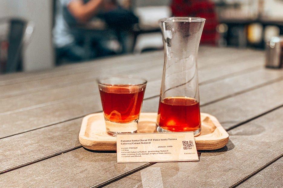 Hand drip coffee from Panama at Barista Jam, Hong Kong