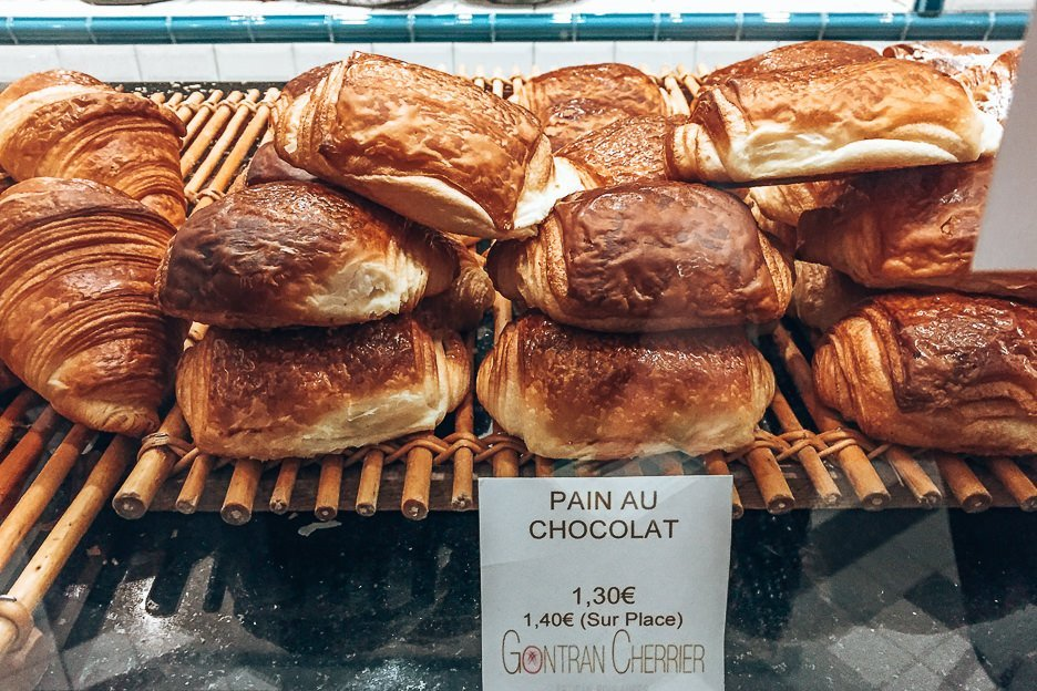 Pain au chocolat at Gontran Cherrier Patisserie, Paris