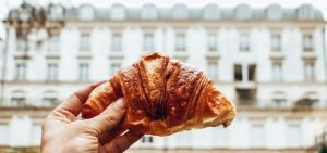 A butter croissant from a Parisian patisserie, Paris