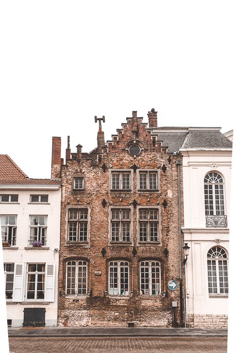 Gingerbread facades in Bruges, Belgium