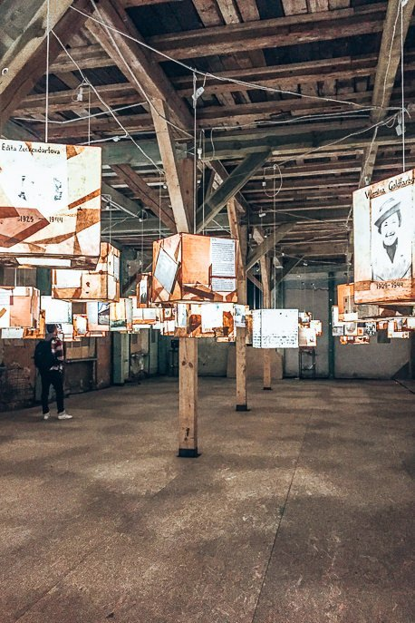 3000 fates lantern exhibition at the Riga Ghetto and Latvia Holocaust Museum