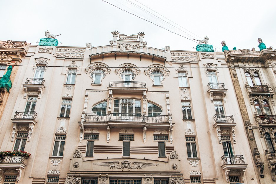 Examples of Art Nouveau in Riga, Latvia