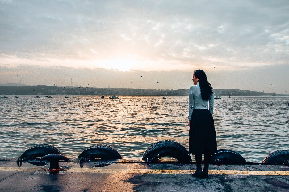 Looking out over the Bosphorus River - Istanbul Cty Guide, Turkey