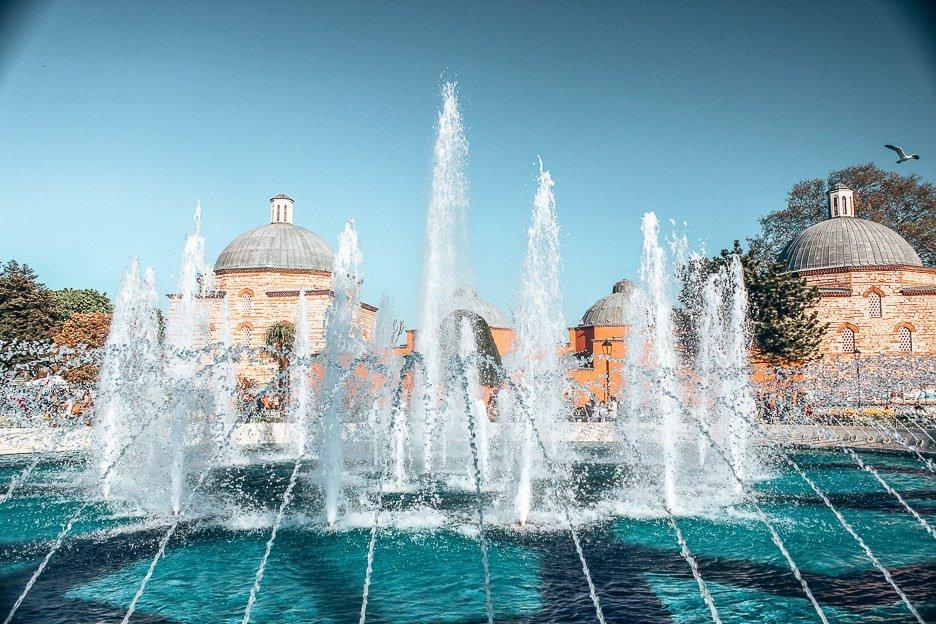 Fountains outside the Hagia Sofia - Istanbul City Guide, Turkey