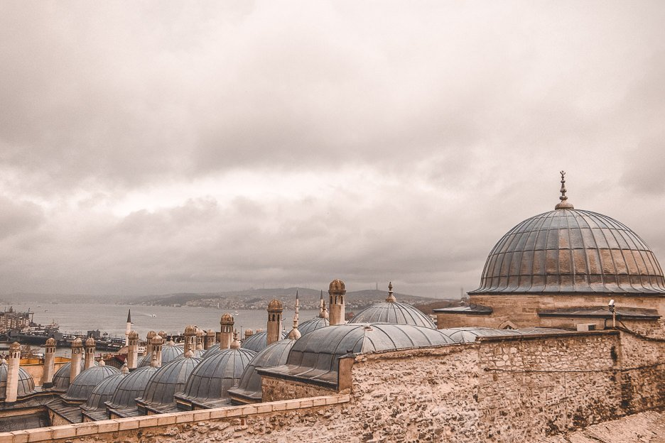 Some of the domes of the Suleymaniye Mosque - Istanbul City Guide, Turkey