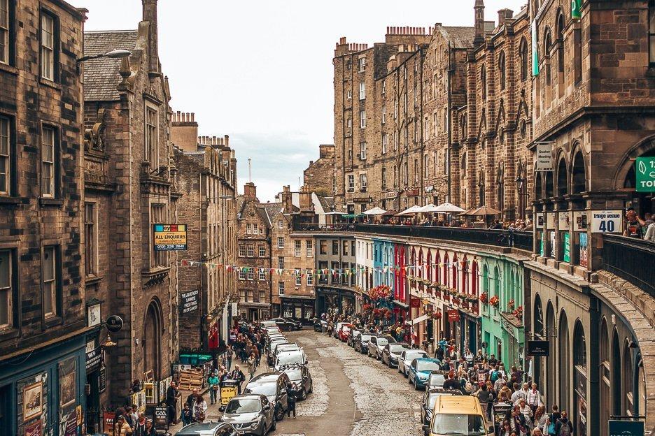 Looking down West Bow, Edinburgh