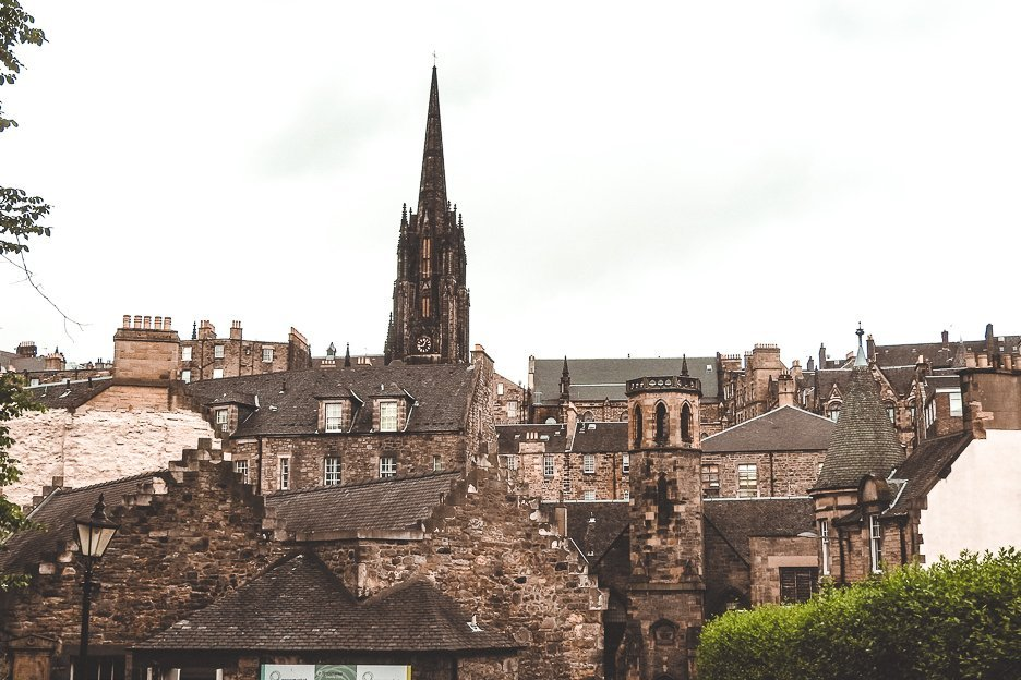 Spires, turrets and rooftops of Edinburgh, Scotland