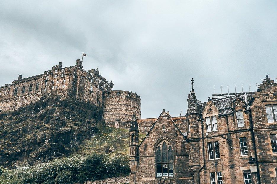 Edinburgh castle from below, Edinburgh