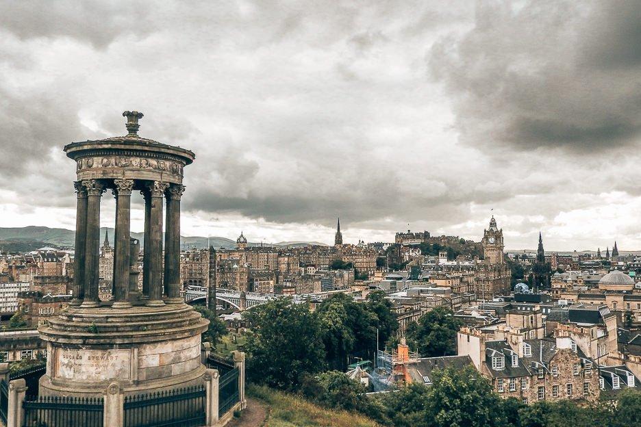 The view over the city of Edinburgh from Calton Hill, Edinburgh