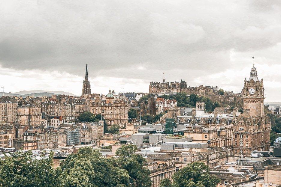 The view over the city, Edinburgh Scotland