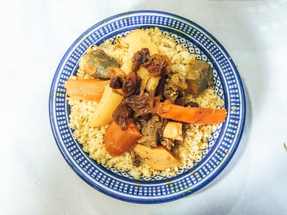Lamb and vegetable couscous from Bab Ssour, Chefchaouen Morocco