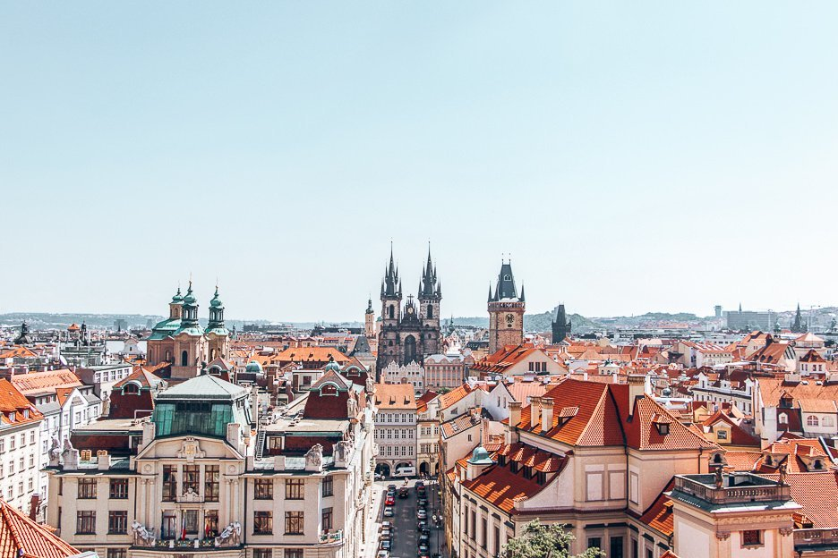 View over Prague from Klementinum, Prague City Guide