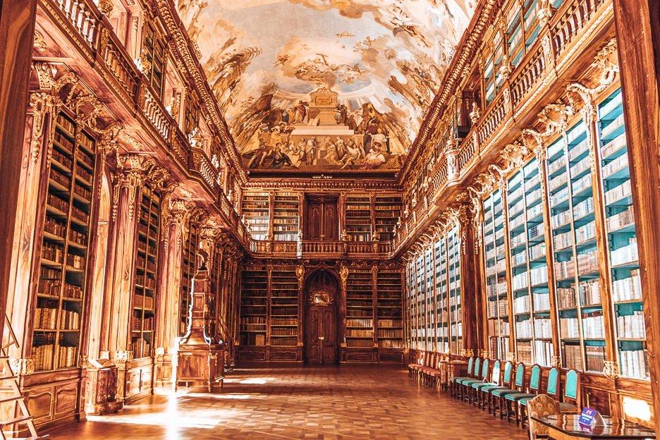 The Theological Hall inside the Strahov Monastery, Prague City Guide