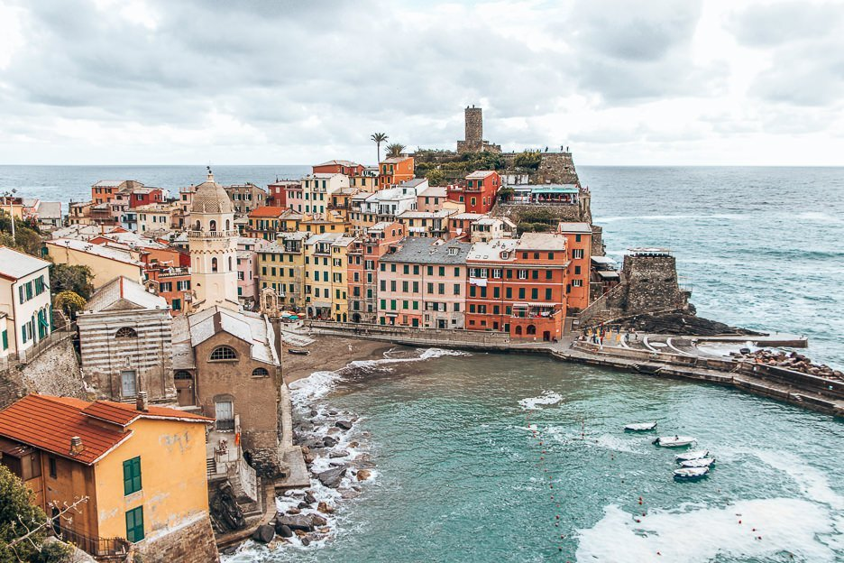 The harbour and town of Vernazza, Cinque Terre