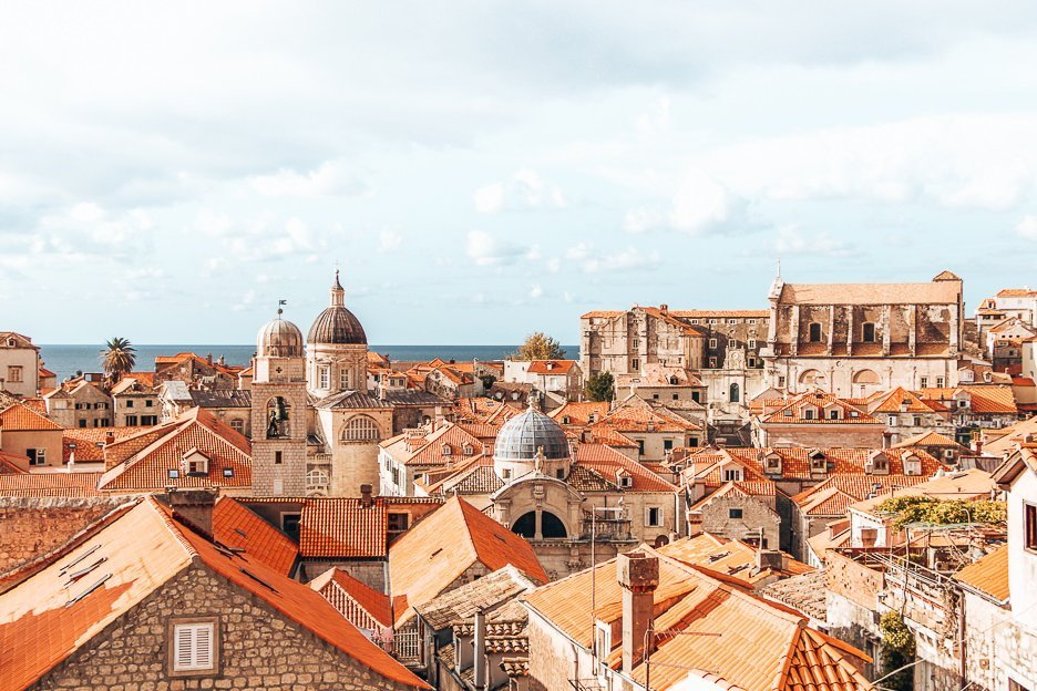 Red roofs of Dubrovnik Old Town - Croatia
