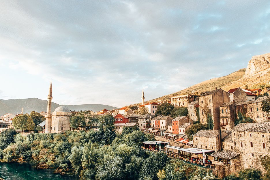 Scenic view of Mostar, Bosnia and Herzegovina