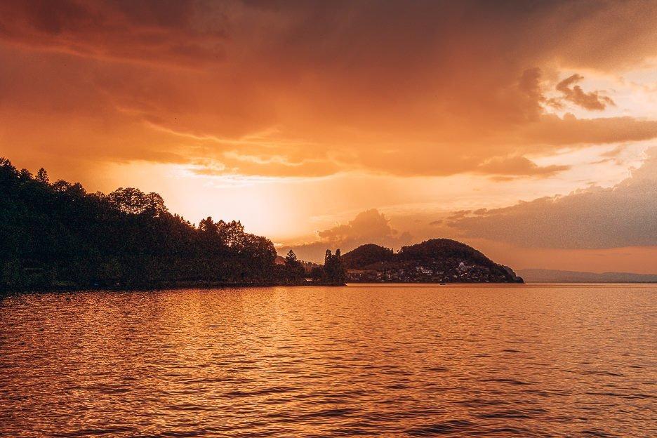 Sunset over Interlarken, Switzerland