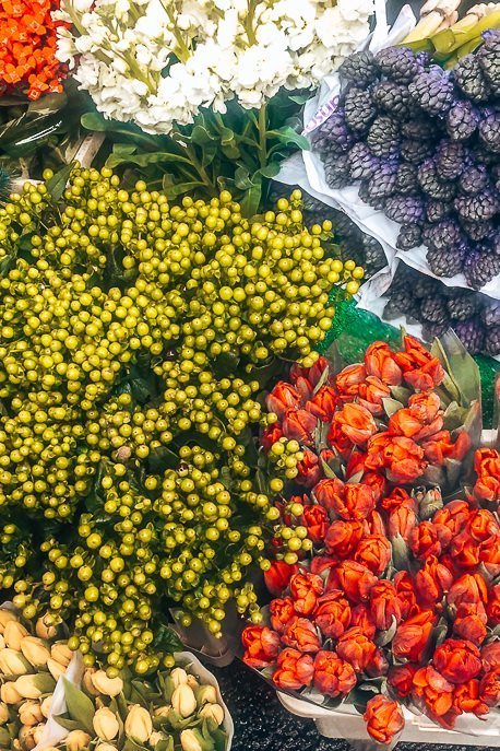 Fresh flowers at Columbia Road Flower Market