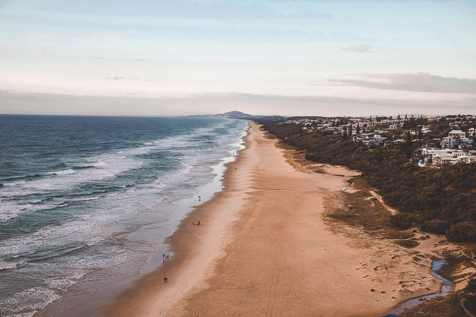 A view of Sunshine Beach just after sunrise at Byron Bay, New South Wales, Australia
