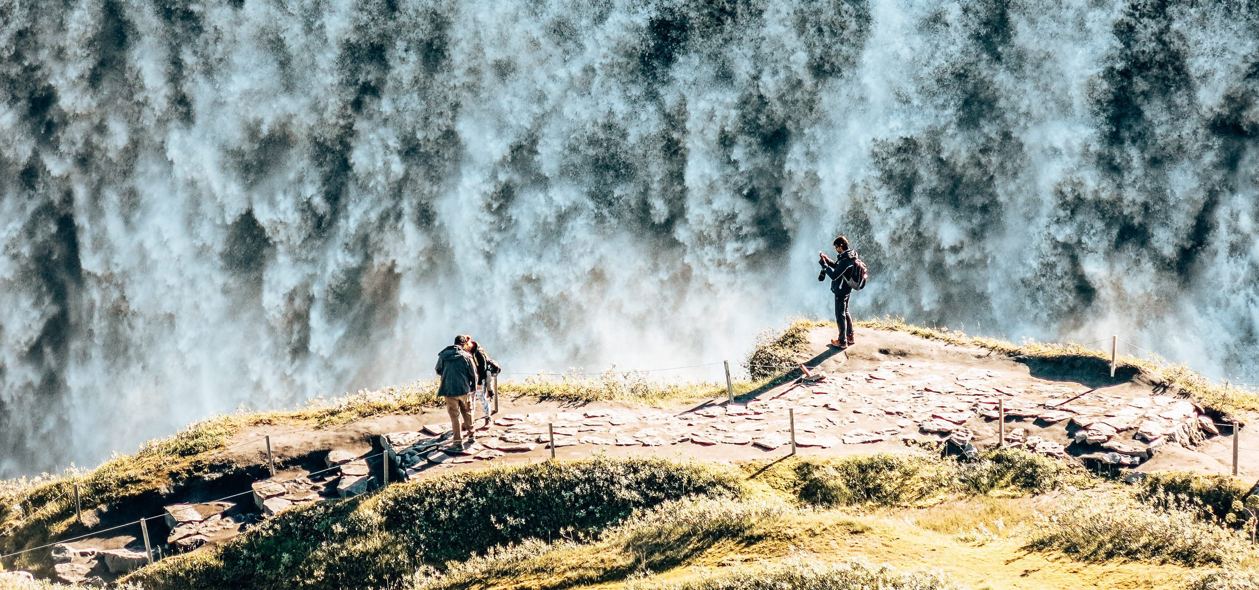 Taking in Gullfoss Falls from above