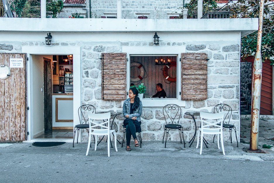 Searching for coffee in Kotor, Montenegro